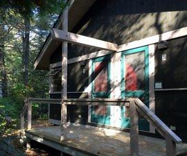 Cabins, Canadian Ecology Centre, Mattawa, Ontario, Canada