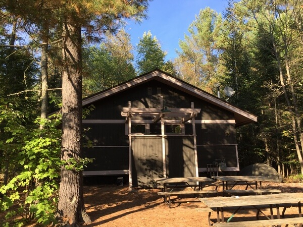 Dining cabin, Canadian Ecology Centre, Mattawa, Ontario, Canada