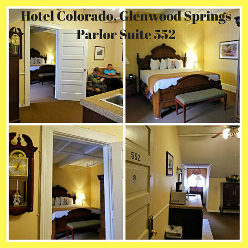 Our beautiful King Suite Parlor Room 552 at the Hotel Colorado, Glenwood Springs.