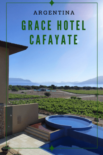 Grace Cafayate luxury hotel in the Salta Province of Argentina, in the wine region famous for Torrontes whites