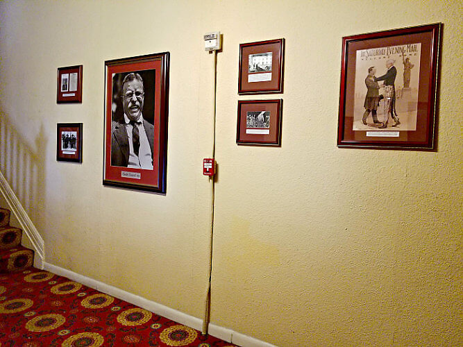 Hotel Colorado displays many photos and artwork, lining the lobby and hallways. Photo: Diana Rowe
