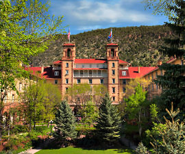 Exterior of Hotel Colorado, Glenwood Springs, historic and beautiful