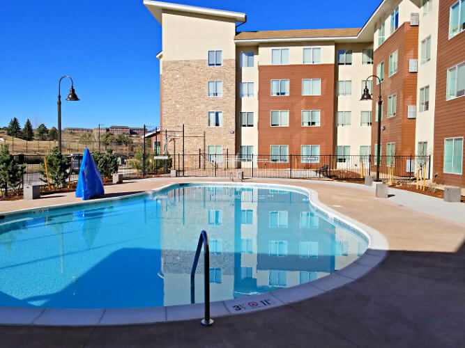 outdoor pool at Residence Inn Boulder Bromfield Colorado