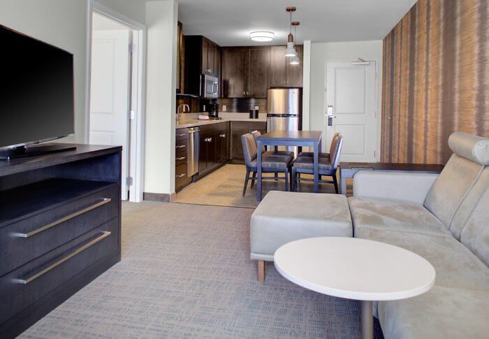 Studio room includes kithenette at the Residence Inn Boulder Broomfield / Interlocken, Colorado