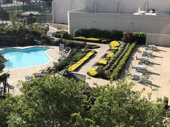 DoubleTree by Hilton Pleasanton at the Club pool view from room