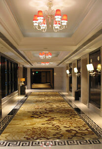 Elevator lobby, Wyndham Grand Xi'an South, China (Photo by Susan McKee)