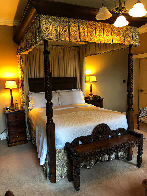 hanna room, newforge country house, four poster bed, antiques, irelands blue book, armagh, northern ireland