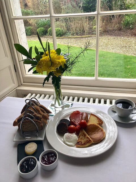 ulster fry irish breakfast, newforge country house, armagh guest house, northern ireland