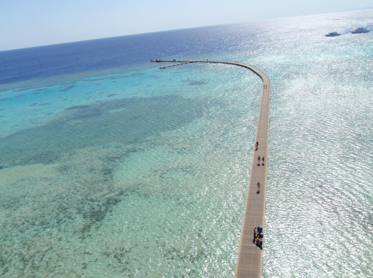 Soma Bay deck drone shot, egypt