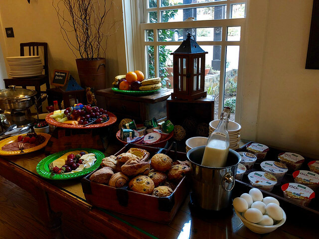 breakfast buffet, wine country inn, st. helena, california