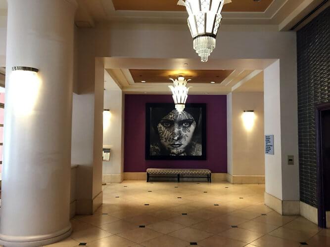 lobby at Hotel de Anza