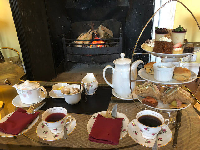afternoon tea, castle grove country house, letterkenny, ireland, county donegal, irelands blue book hotel