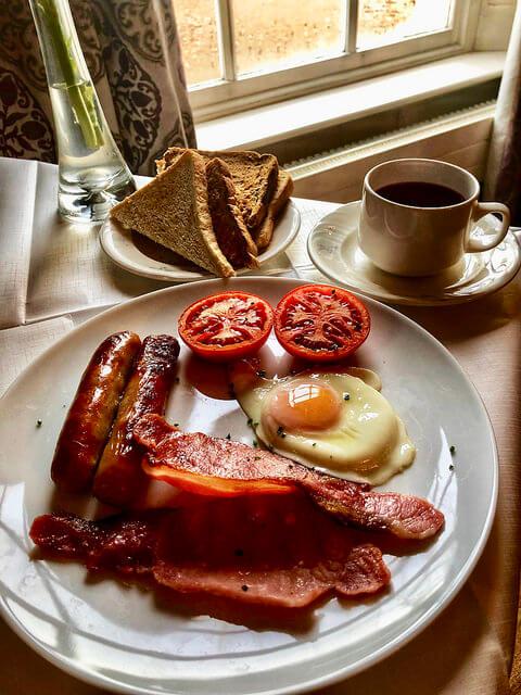 full irish breakfast, castle grove country house, irelands blue book hotel, letterkenny, county donegal, ireland
