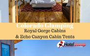 Colorado Glamping at the Royal Gorge Cabins & Echo Canyon Cabin Tents in Canon City. #Coloradoglamping #colorado #glamping