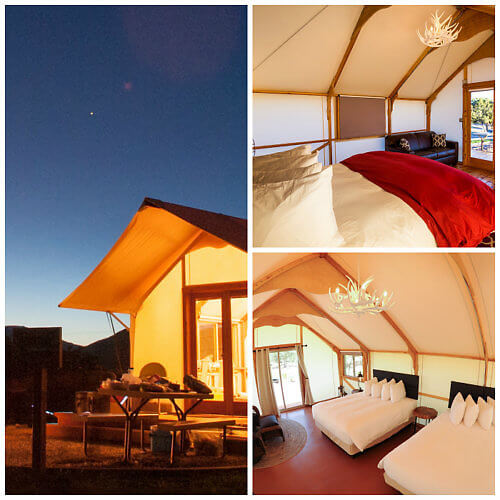 Take your family Colorado glamping at the Echo Canyon Tent Cabins, Canon City, Colorado