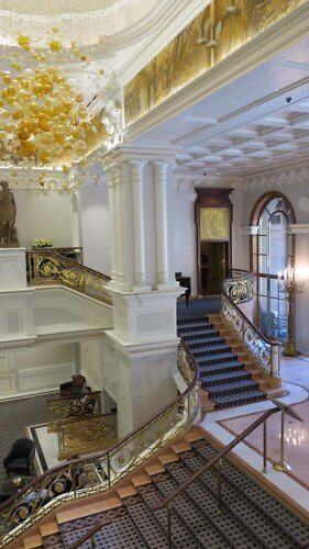 staircase, lotte ny palace