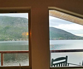 Western Riviera Lodging includes Lakefront view from Tree House Cabins.