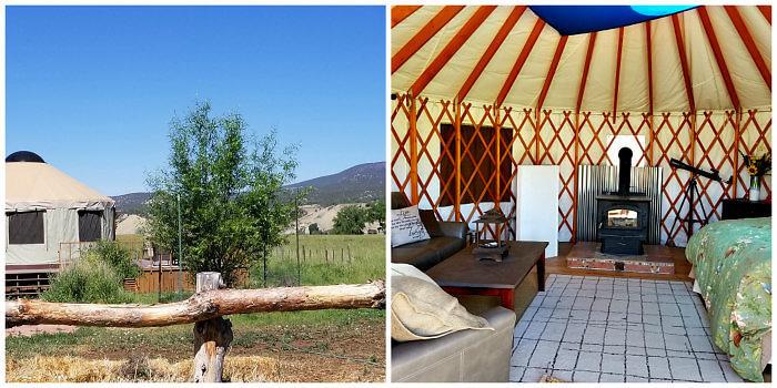Agape Farm & Retreat Accommodations include a yurt, Paonia, colorado