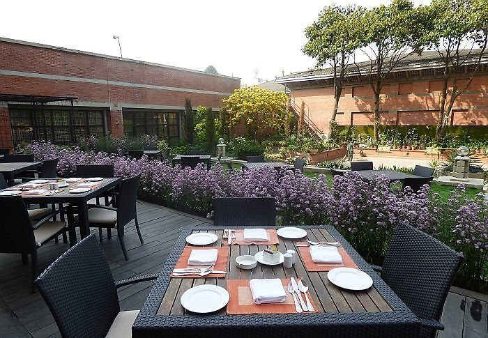 Outdoor dining at Soaltee Crowne Plaza