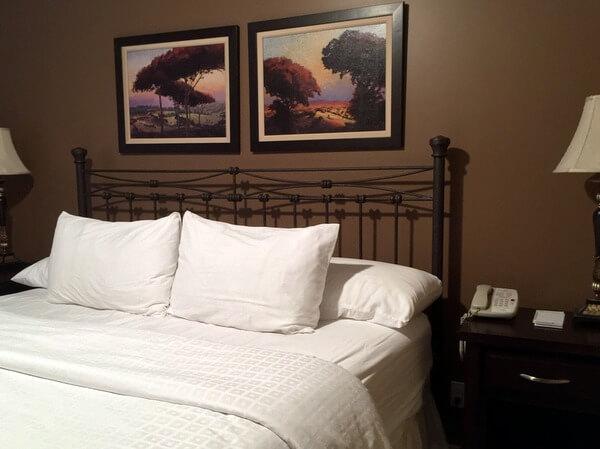 Condo bedroom, Bighorn Meadows Resort, Radium Hot Springs BC Canada