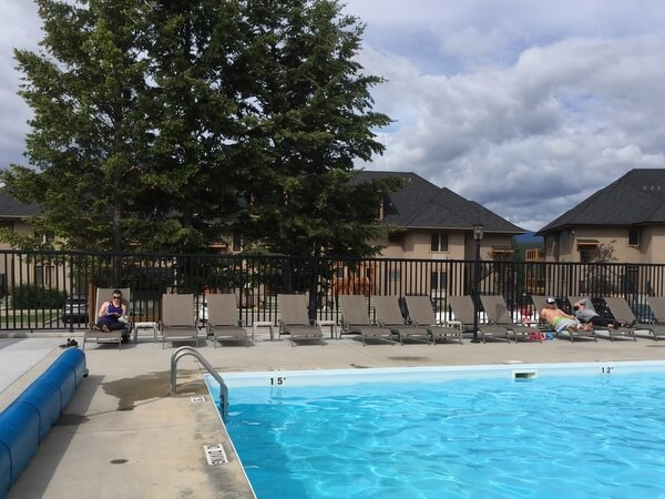 Pool, Bighorn Meadows Resort, Radium Hot Springs BC Canada