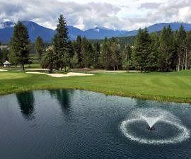 Mountain views, Bighorn Meadows Resort, Radium Hot Springs BC Canada