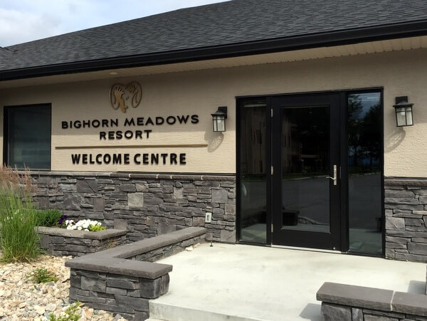 Welcome Centre, Bighorn Meadows Resort, Radium Hot Springs BC Canada