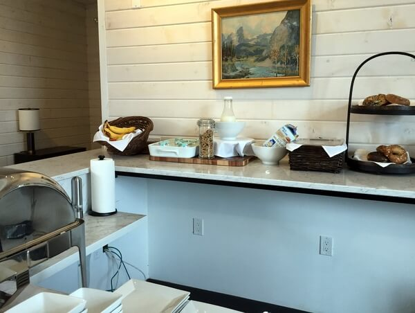 Breakfast buffet, Explorer's Society Hotel, Revelstoke BC Canada