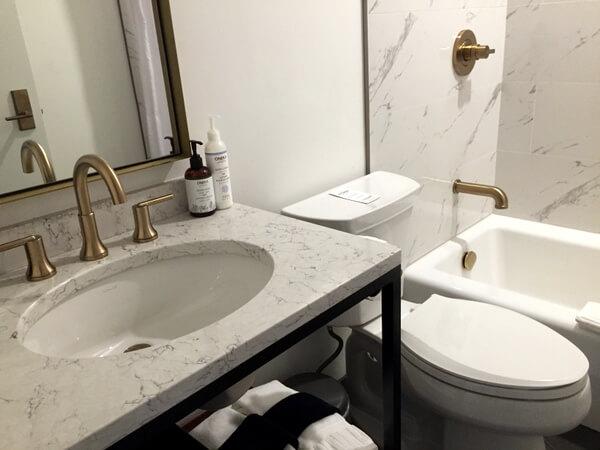 Guest bath, Explorer's Society Hotel, Revelstoke BC Canada