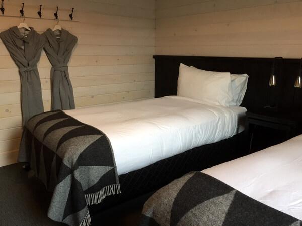 Guest room, Explorer's Society Hotel, Revelstoke BC Canada