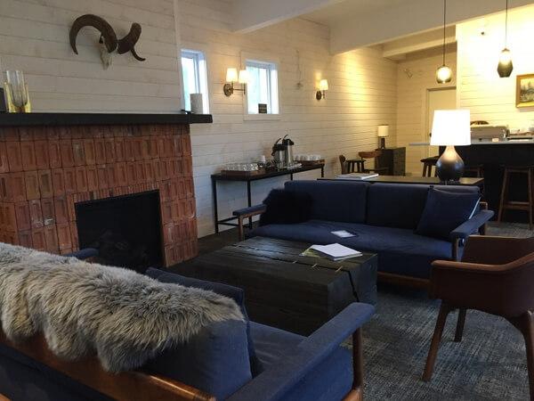 Lounge, Explorer's Society Hotel, Revelstoke BC Canada