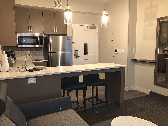 King Room kitchen at Hotel Trio in Healdsburg, CA