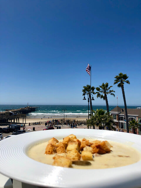 pismo beach clam chowder, room service inn at the pier, pismo beach, california