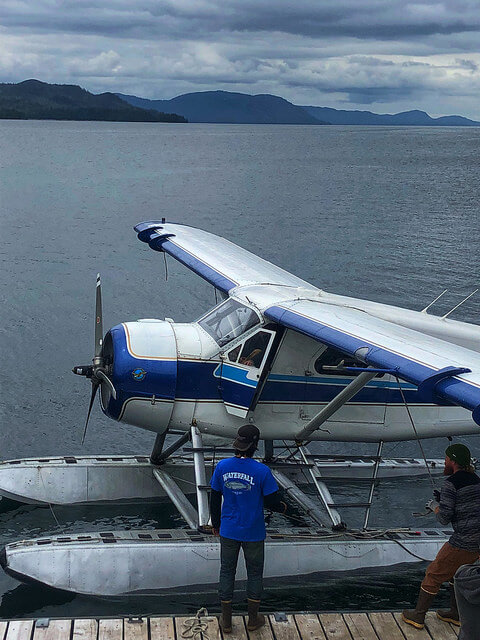 float plane waterfall resort alaska, taquan air alaska, sport fishing lodge