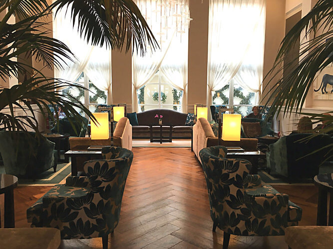 The lounge at the Turin Palace hotel