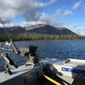 Fishing on Kathleen Lake, Dalton Trail Lodge, Yukon, Canada