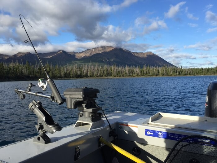 Fishing on Kathleen Lake, Dalton Trail Lodge, Yukon, Canada