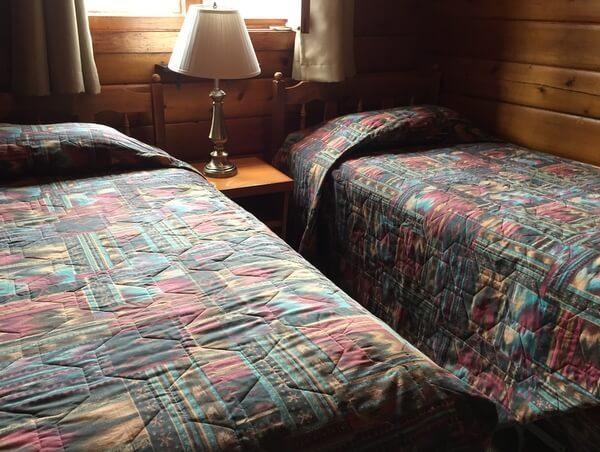 Guest room, Dalton Trail Lodge, Yukon, Canada