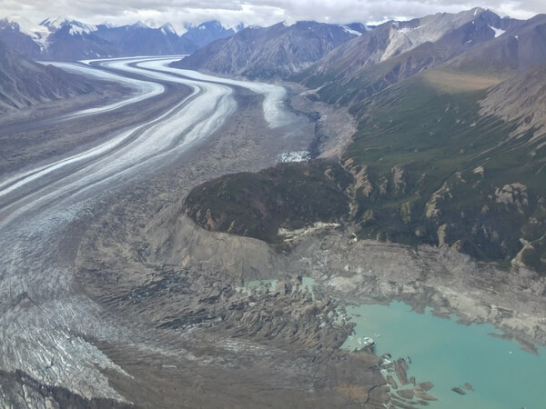 Flightseeing over the glaciers, Kluane National Park, Yukon, Canada