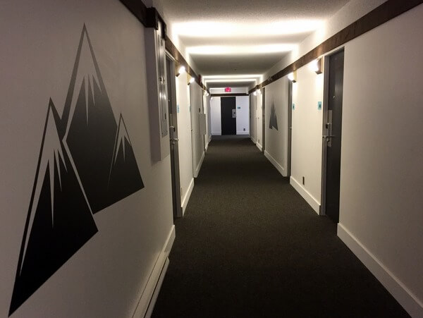 Hallway, The Stoke Hotel, Revelstoke BC Canada