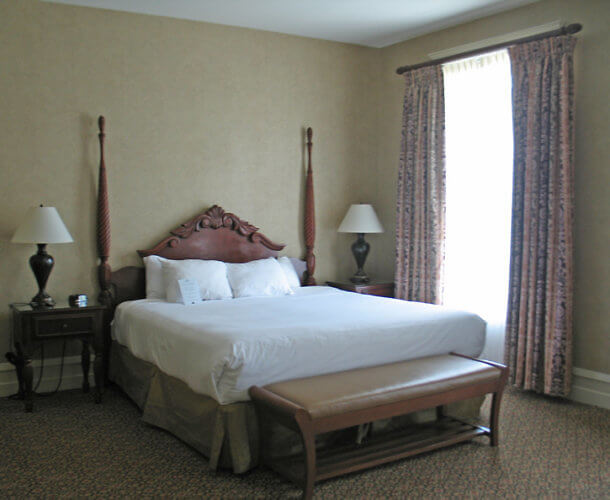 Guest Room, French Lick Resort, Indiana (Photo by Susan McKee)