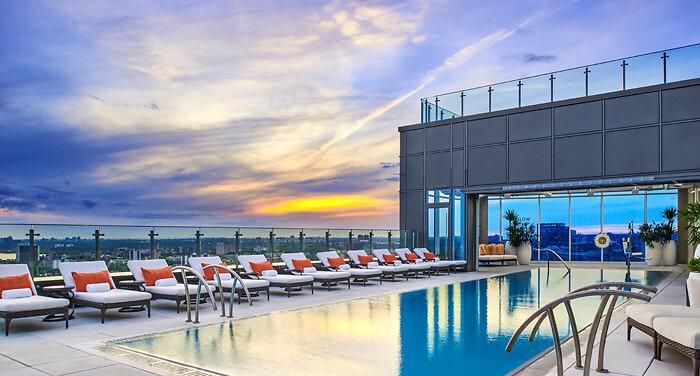 Hotel X Toronto rooftop pool