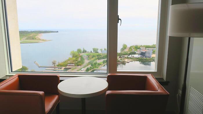 Hotel X Toronto room view