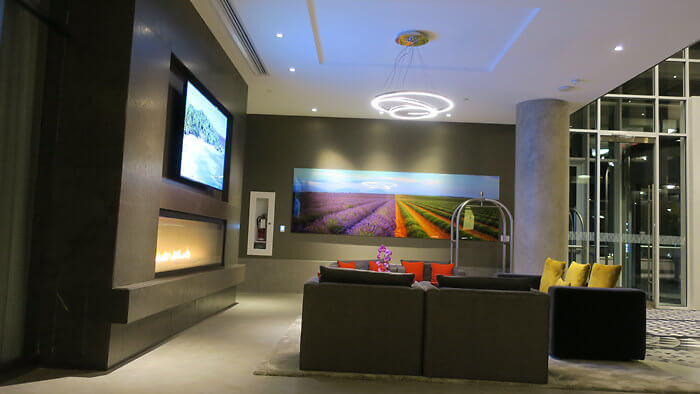 Hotel X Toronto interior lobby entrance