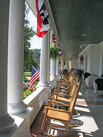Porch, French Lick Resort, Indiana (Photo by Susan McKee)