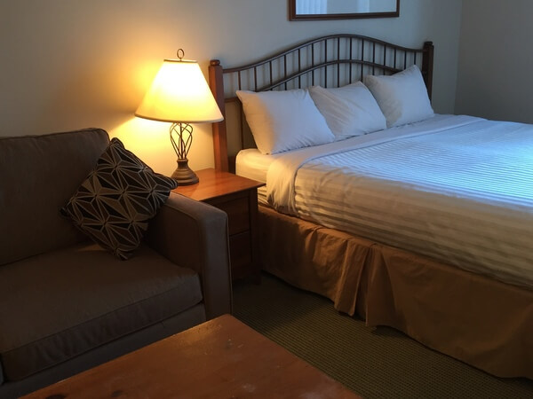 Guest room, Hearthstone Lodge, Sun Peaks Resort, BC Canada