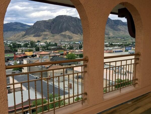 Rooftop views, Plaza Hotel, Kamloops, BC, Canada