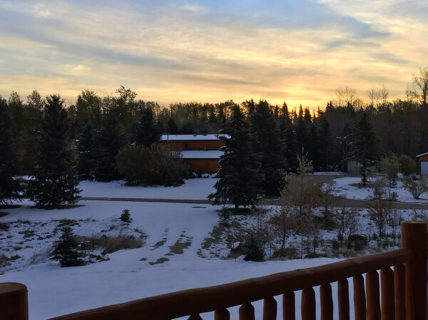 Sunrise views, Prairie Creek Inn, Rocky Mountain House, Alberta Canada
