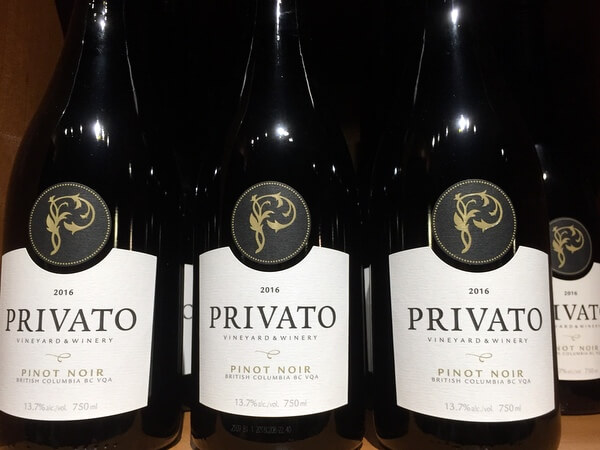 Privato wines, Kamloops, BC, Canada