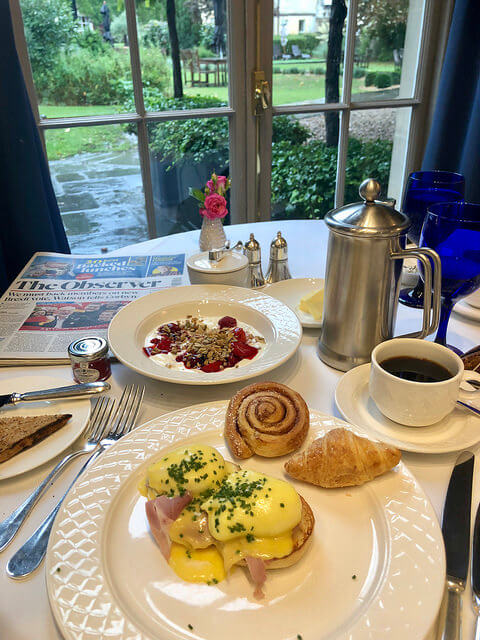 breakfast dower house restaurant, royal crescent hotel & spa, bath england luxury hotel
